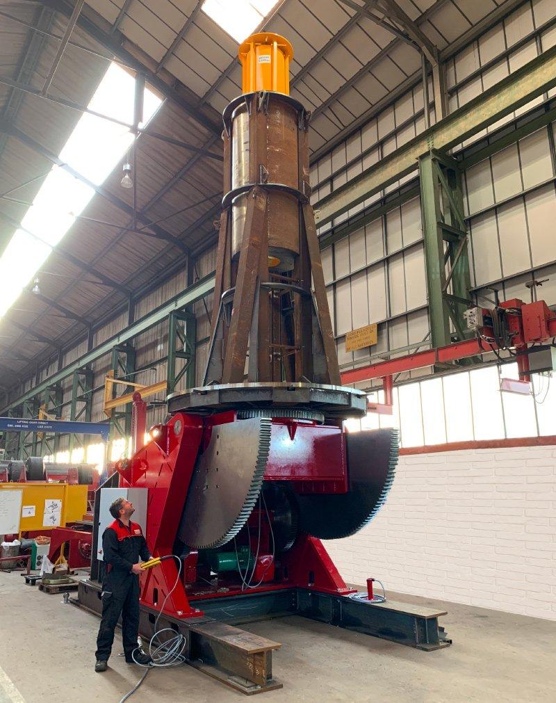 Positioner 2500kg vertical load test