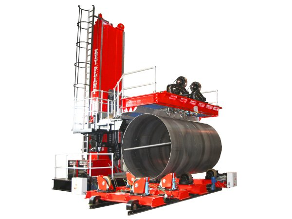 Special column and boom manipulator with platform