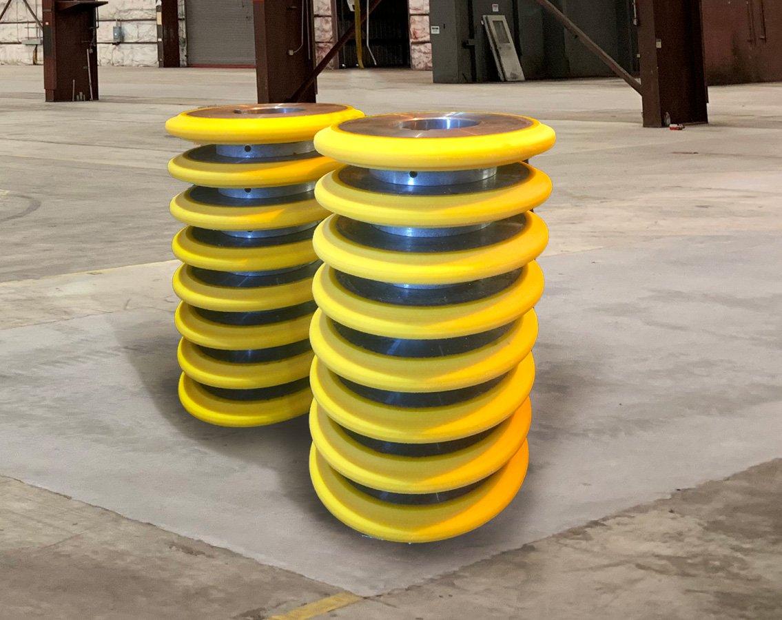 Special designed polyurethane wheels