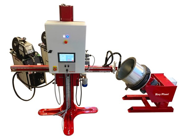 Pipe Segment weld process FCS Flange Cladding System